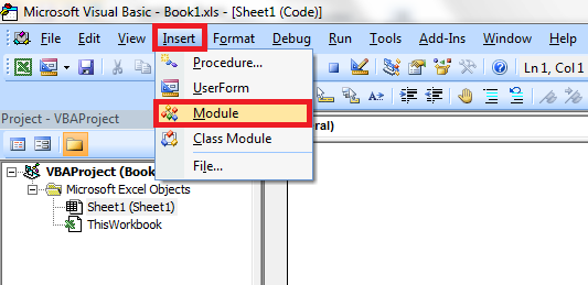 Adding a new module into a VBA project